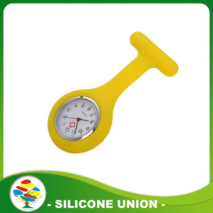 yellow silicone nurse watch