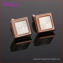 Rose Gold Lattice Box Upscale French Cufflinks L51927