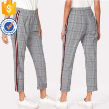 Contrast Tape Side Plaid Pants Manufacture Wholesale Fashion Women Apparel (TA3088P)