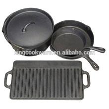 Sistema caliente del cookware del arrabio de la venta