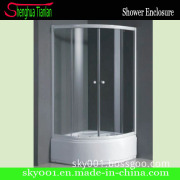 Circular Simple Glass Bathtub Wet Room Shower Enclosure (TL-533)