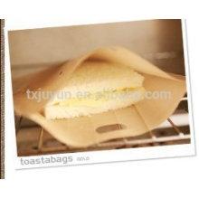 No Stick Tostadora Bolsas Sandwich asado a la parrilla Bolsa (Beige, paquete de 4)