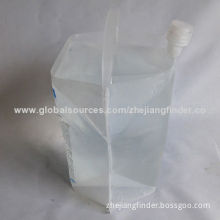 Spring water packaging plastic spout bag for water