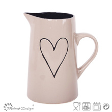 1 Litter Ceramic Heart Design Pitcher Hot Selling High Quality