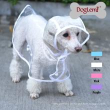 Löschen Sie großen Hundehaustierregenmantel-Kleidungs-Welpen-Glisten-Bar Hoody-wasserdichte Regen-Jacken