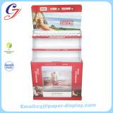 Cardboard flooring advertising display stands for CRYSTAL GLAZE in market promotion sale