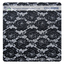 Floral Black Heavy Lace Fabric for Dresses/Heavy Flower Lace Fabric Cy-Lw0806