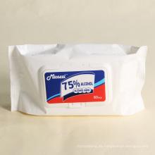 Toallitas húmedas con alcohol para manos de limpieza antibacteriana a granel