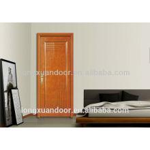 Diseño de puerta de dormitorio de madera maciza / acabado de pintura de chapa de madera / puerta mdf sólida de madera