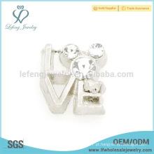 Novo encanto de chegada da letra de amor, charme de prata flutuante da prata do locket