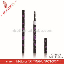 Top quality metal double heads eyebrow tube