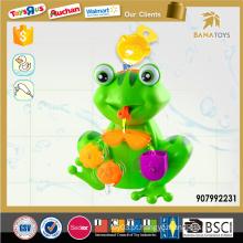 Brinquedo de banho de verão animal quente para desenhos animados do bebê brinquedo de sapo plástico