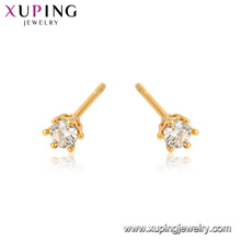 24670 Xuping jewelry 2018 new simple design gemstone stud earrings