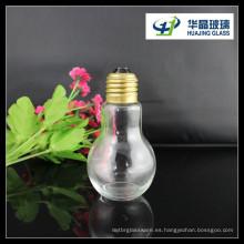 2015 venta caliente 100ml bulbo forma bebidas botella de vidrio