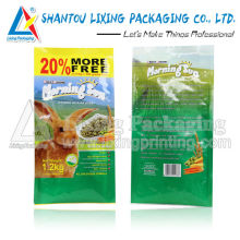 Side gusset animal food bag