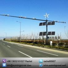 Sistema de energía Solar híbrido de viento de circuito cerrado de televisión