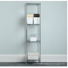 Square DIY Chrome Metal Bathroom Wire Corner Rack (LD3030800C4)