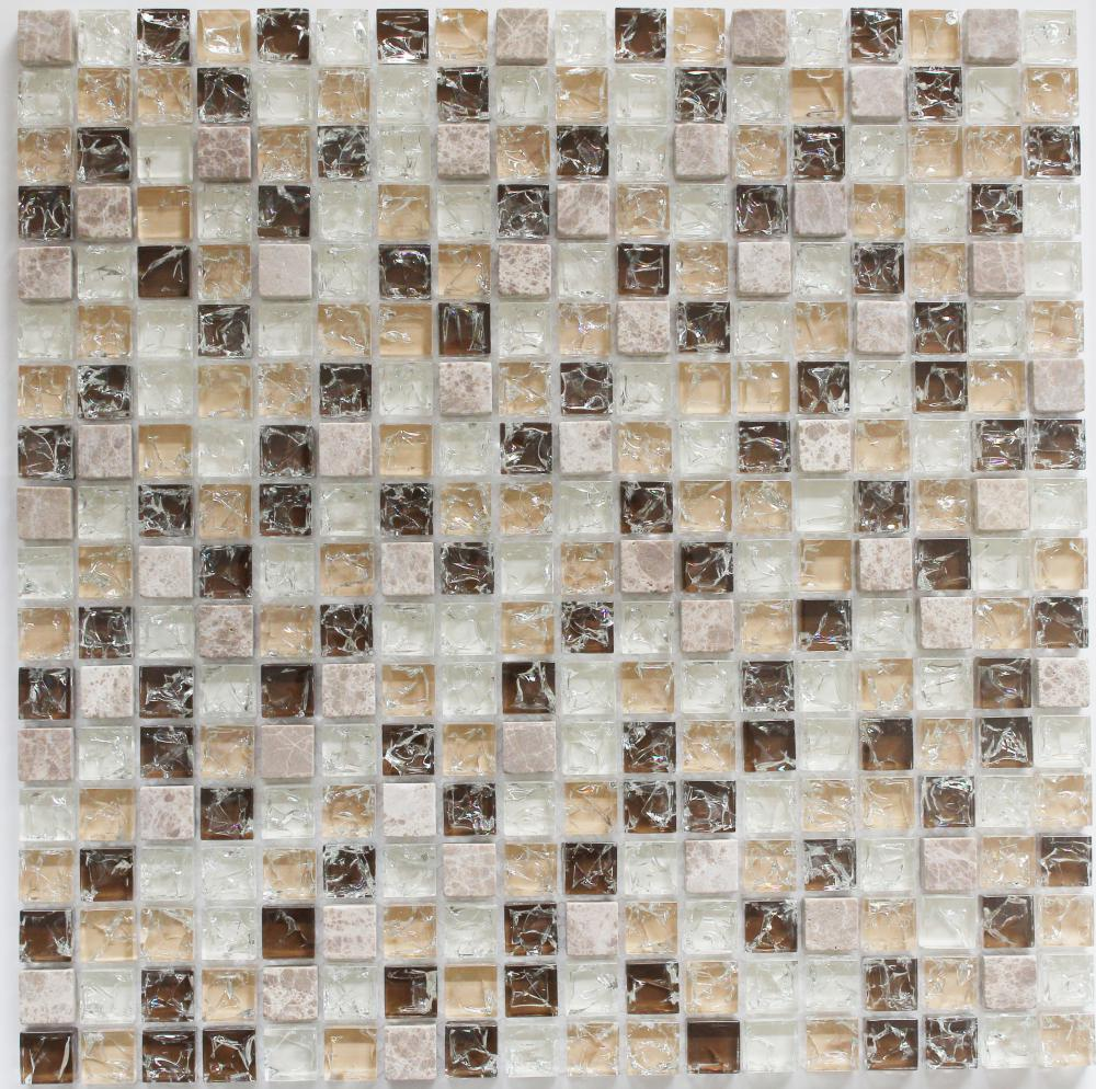 Beige Color Mixed Crystal Glass Mosaic