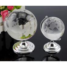 Globo terrestre cristalino del regalo claro de la promoción del cristal de la tierra del regalo