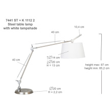 Adjustable table lamp for bedroom
