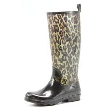 Wild Dark Leopard Rubber Rain Boots