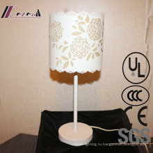 Гостиная Декоративные Формы Белый Железный Цветок Тумбочка Лампа