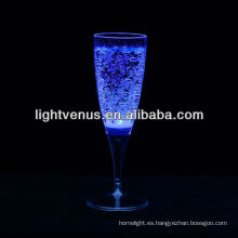 Romántico luminoso líquido activo LED Champagne Glass