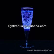 Liquide lumineux romantique actif LED Champagne verre