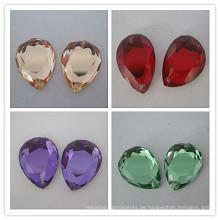 Facettierte Schnitt Stein Birne Form Glasperlen
