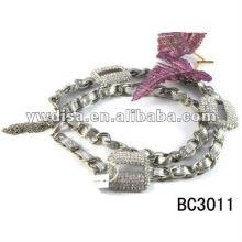 Cadeia da cintura das mulheres, moda PU cinto com preço de fábrica