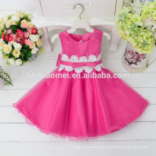 2017 детский день рождения дети ну вечеринку платья ручной работы цветок девочка платья дети платья конструкций