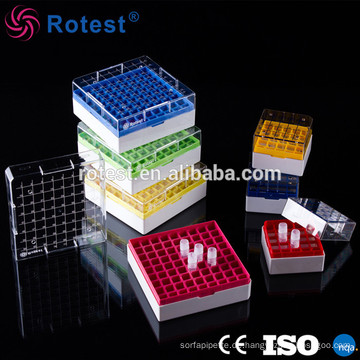 2-Zoll / 100-Well-Behälter für transparente Gefrierbox mit Trennwänden