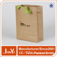 brown paper kraft gift bags with handles manufacturing