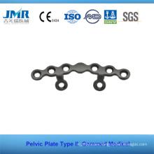 Metal Trauma Bone Orthopedic Implant Type II Pelvic Plate