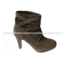 Women's Dress Boots with Fake Suede Upper, Classic Autumn and Winter Design, Elegant, Nice