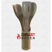 Ferramentas de cozinha de bambu puramente cozinha utensílios de cozinha (CB01)