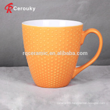 High quality small embossed spots milk mug