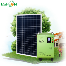 Générateur solaire portatif d'onde sinusoïdale pure DC et AC 220v 230v système solaire dynamo