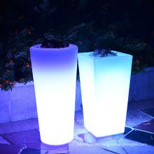 La maceta luminosa al aire libre del LED / las luces decorativas del florero del plantador de flor del LED