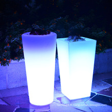 Pot de fleurs lumineux extérieur LED / lumières décoratives de vase de planteur de fleur de LED