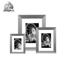 Silver Modern Plated Aluminum 8x10 11x14 15x23 Picture Frame With Mat