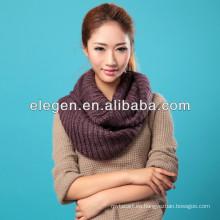 Venta caliente de las mujeres de las ventas de la alta calidad que hace punto sólido todo el fósforo caliente de la bufanda / del mantón
