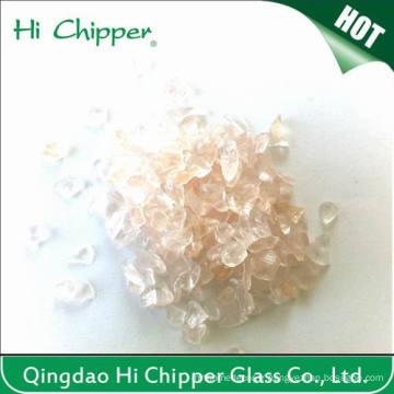 Chips de verre à la boule concassée