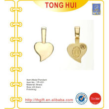 Imitation gold jewelry heart charm ornament pendant metal