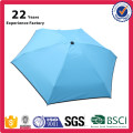 Portable Extra-light Dry Type Small Pocket 5 Folding Sun Umbrella with Fabric Case for Travel