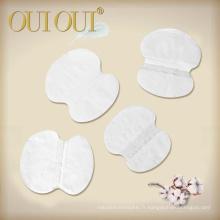 Aisselles jetables propres de coton aisselles tampons de transpiration aux aisselles