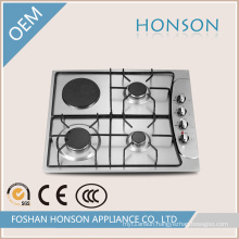 One Electric Hotplate Three Burnes Gas Hob Gas Stove