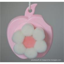 Moda suave cabelo facial limpador rosa flor forma escova de limpeza