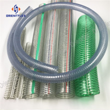 Food+steel+wire+reinforced+spring+pvc+hose+pipe