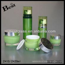 2 * 10/2 * 20ml botella de crema de acrílico de doble cámara